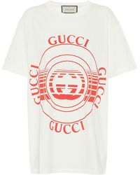 Gucci - Logo Cotton-jersey T-shirt - Lyst