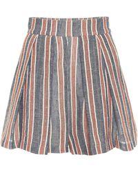 Three Graces London Linen And Cotton Shorts - Multicolor