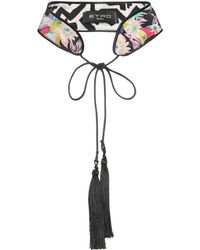 Etro - Printed Silk Choker - Lyst