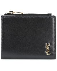Saint Laurent Leather Wallet - Black