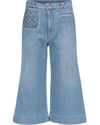 See By Chloé Jeans flared a vita alta - Blu