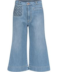 See By Chloé - Jeans flared de tiro alto - Lyst