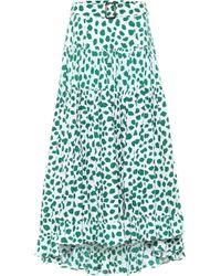 Alexandra Miro Exclusive To Mytheresa – Penelope Leopard-print Cotton Maxi Skirt - Green