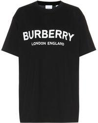 Burberry - Oversize Logo Print Cotton T-shirt - Lyst