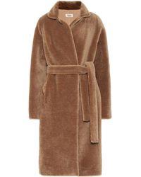 Yves Salomon Meteo Wool Coat - Brown
