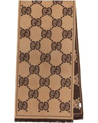 Gucci - GG Wool-jacquard Scarf - Lyst
