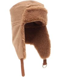 Max Mara Avy Camel Hair Hat - Brown