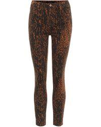 J Brand Jeans skinny Alana de tiro alto - Marrón