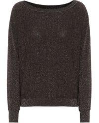 Velvet Pull Abril en coton et soie mélangés - Noir