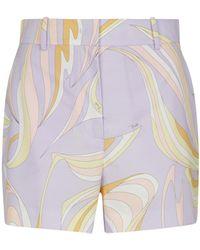 Emilio Pucci Shorts aus Baumwolle - Lila