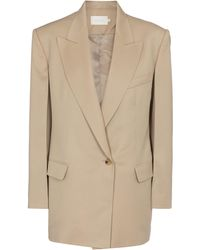 Low Classic Single-breasted Wool Blazer - Natural