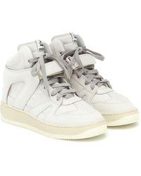 Isabel Marant Baskets Brooklee en cuir - Blanc