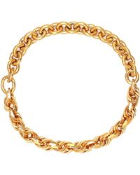 Bottega Veneta Vergoldete Halskette aus Silber - Mettallic