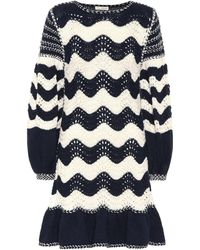 Ulla Johnson Fiorella Cotton-blend Jumper Dress - Blue