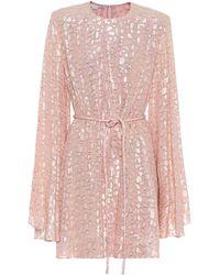Stella McCartney Minikleid aus einem Seidengemisch - Pink