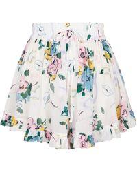 Alessandra Rich Bedruckte Shorts - Weiß