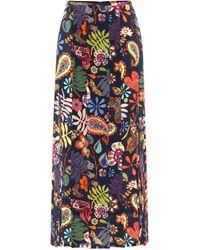RIXO London Georgia Floral Silk Midi Skirt - Multicolour