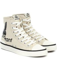 Isabel Marant High-Top-Sneakers mit Logo - Natur