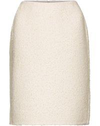 Marc Jacobs Falda tubo de lana punto bouclé - Blanco