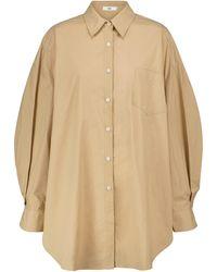Frankie Shop Oversize-Hemd Melody aus Baumwolle - Natur