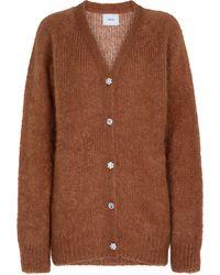 Erdem Marcilly Embellished Mohair-blend Cardigan - Brown