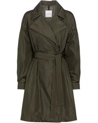 Moncler Meboula Down Trench Coat - Green