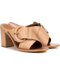 Zimmermann Leather Mules - Natural