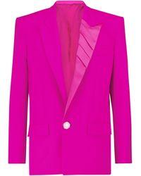 The Attico Blazer de lana elastizada - Rosa