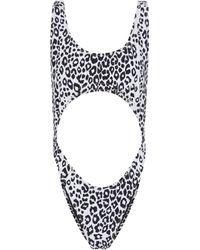 Reina Olga Exclusive To Mytheresa – Marina Leopard-print Swimsuit - White