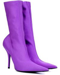 Balenciaga Purple Knife 110 Sock Boots
