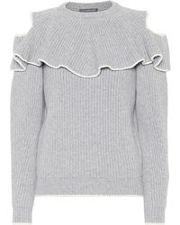 Alexander McQueen Wool And Cashmere Sweater - Gray