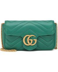 Gucci - GG Marmont Super Mini Shoulder Bag - Lyst