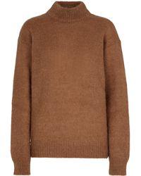 Tom Ford Jersey en mezcla de mohair y lana - Marrón