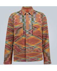 Missoni Linen-blend Knitted Overshirt - Brown