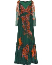 Etro - Printed Cotton And Silk Gown - Lyst