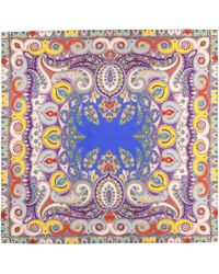 Etro Pañuelo de seda print paisley - Multicolor