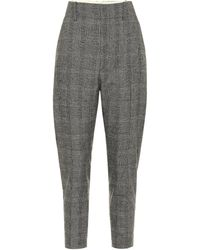 Étoile Isabel Marant Noah Checked Straight Trousers - Black