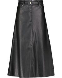Stand Studio Riley Faux Leather Midi Skirt - Black