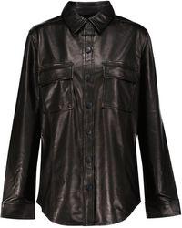 J Brand Chemise en cuir - Noir