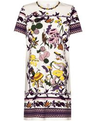 Tory Burch Bedrucktes Minikleid aus Jersey - Mehrfarbig