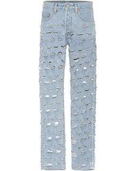 Vetements X Levi's - Jeans distressed - Blu