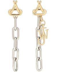 JW Anderson Loop Chain Drop Earrings - Metallic