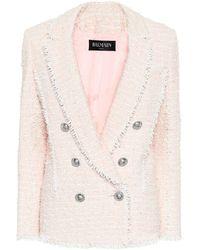 Balmain Blazer de tweed - Rosa