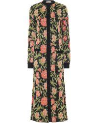 Paco Rabanne Floral Mohair-blend Maxi Cardigan - Multicolor