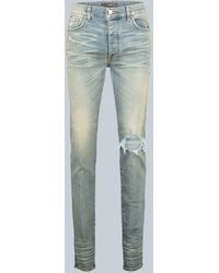 Amiri Slim-Fit Distressed Jeans Broken - Blau