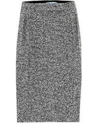 Max Mara Rosita Wool-blend Midi Skirt - Gray