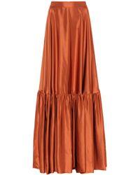 Plan C Taffeta Maxi Skirt - Multicolour