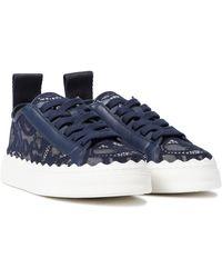 Chloé Sneakers Lauren mit Spitze - Blau