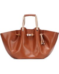 Nanushka Crafty Lynne Large Leather Tote - Brown