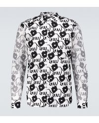 Comme des Garçons Bedrucktes Hemd aus Baumwolle - Mehrfarbig